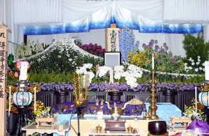 自宅葬花祭壇